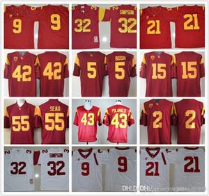 Uomini USC Trojan # 14 Sam Darnold O.J Simpson 32 Robert Woods 2 Adoree Jackson Juju Smith-Schuster 9 College Football Jerseys
