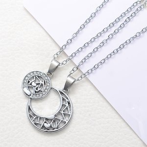 2018 Hot Sale High Quality Sun Moon Necklace Fashion Jewelry European and American Series Lovers Pendant Short Chain Necklace