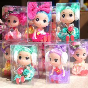 Creativa Kawaii Dolls confundieron a 10cm figuras de acción juguetes de plástico de colores muñeca linda de la falda de la princesa de los niños juguetes