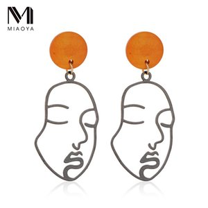 Funny Personality Abstract Face Double-Sided Earrings Creative Ear Stud