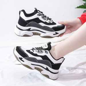 2020 Novo Estilo Panda Sports Dad Calçados Femininos Tennis Red Casual Versátil Shoe INS Extra alta as sapatas de