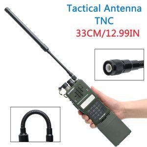 ABBREE TNC Conector VHF UHF Dual Band Gooseneck Dobrável Tático Antena Para Kenwood Harris AN / PRC-152 148 Rádio Walkie Talkie
