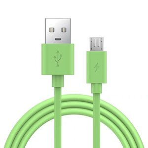 Micro USB Silicone Cable 1.2m 1.8m Fast Charging Data Sync 2A Cable for Samsung Huawei Xiaomi Sony Phone
