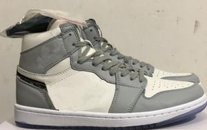 Yeni 1 I OG Orta beyaz, gri WMNS MEN Basketbol Ayakkabı 1s spor ayakkabıları spor açık eğitmenleri en kaliteli BOYUTU 36-46