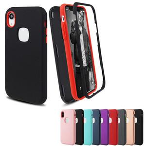 Премиум Матовый 3 в 1 Hybrid PC TPU силикона Защитнику сотовый телефон Дело Обложка для Iphone XS MAX XR X 6 7 8 плюс Samsung S10 плюс S10e S10