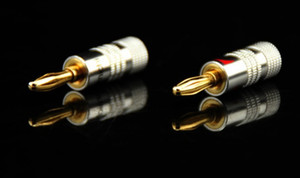 Wholesale- 4mm Nakamichi Banana Plug 24K Gold Plated Speaker Copper Adapter Audio Jack Socket Screw Binding Post Connector RCDNK