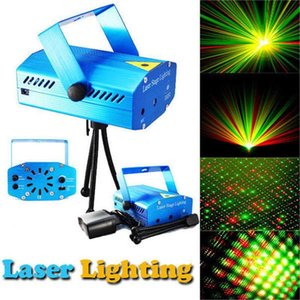 Free shipping ! New Blue Black Mini Projector Red &Green DJ Disco Light Stage Xmas Party Laser Lighting Show Laser lighting