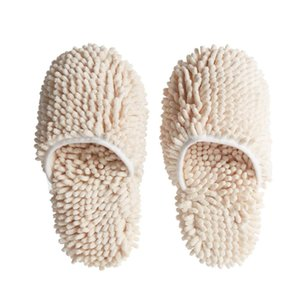Washable Chenille Mop Slippers Floor Cleaning Dusting Slippers House Cleaning Tools 40DC16