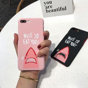 Popular Brand Cool Spoof Shark for IPhoneX Phone Case Scrub Trendy Male Female for Apple 8Plus 7 6S
