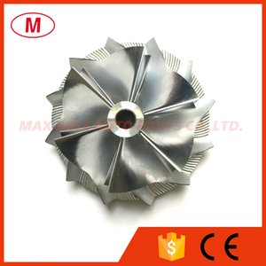 RHF55 48.62 / 65.00mm 6 + 6 lâminas de Alto Desempenho Turbo Billet Compressor roda / Alumínio 2618 / Roda do compressor de moagem para Isuzu VIET