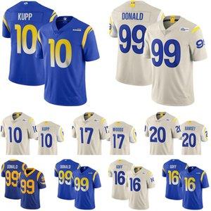 Mens 10 Cooper Kupp 99 Aaron Donald 16 Jared Goff Los Angelesram2020 New 20 Jalen Ramsey 17 Robert Woods Football Jerseys