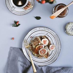 Las placas bandeja Postre de estilo japonés porcelana blanca placa plato de cerámica Vajillas Sushi desayuno bandeja de la torta restaurante de cena