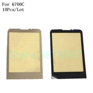 10 teile / los 100% original spiegel display frontlinse glas für nokia 6700c 6700 classic gold / schwarz farbe
