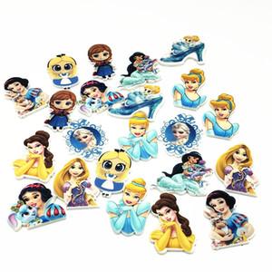 20pcs Mixed Princesa dos desenhos animados Decoração Artesanato Flatback Cabochon enfeites para Scrapbooking Acessórios encantos crianças