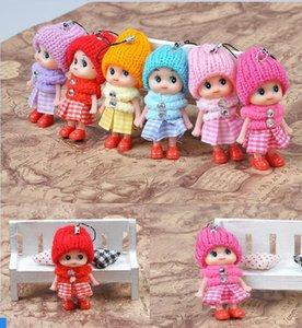 Cadeia Miúdos bonitos brinquedos macios Baby Dolls Toy Key Interactive, Mini Boneca Keychain For Girls Key Anel chave Titular WCW200