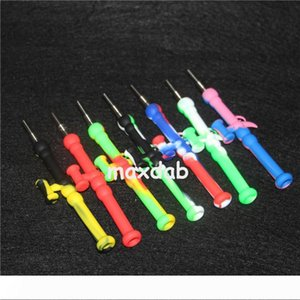 Silicone Water Pipes Silicone Bongs With Bowl Portable Silicone Dab Oil Rigs Smoking Accessories glass hand pipes