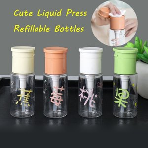 50ml Vider Bouteilles en plastique mignon Rechargeables récipient cosmétique de presse portable Pompage Bouteille Distributeur Vaporisateurs outil