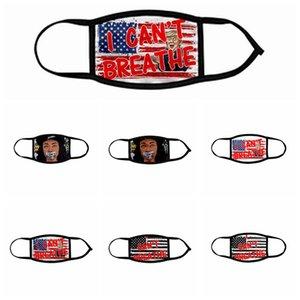 I CAN'T BREATHE Masks Black Lives Matter Face Mask George Floyd Adult Kids Masks Washable Reusable Trump USA Flag Face Designer Mask RRA3143