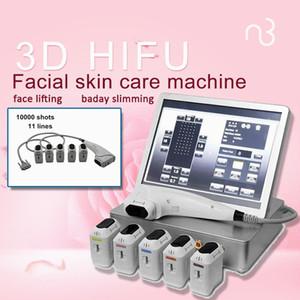 2020 Yeni stil 3D HIFU ultrason makineleri yüksek yoğunluklu terapisi vücut şekillendirici zayıflama HIFU güzellik makinesi sıkma HIFU cildi odaklı