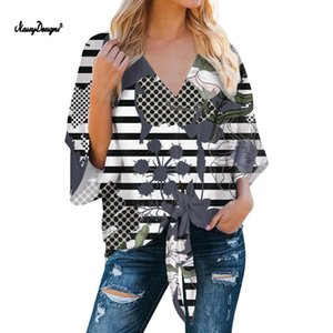 NOISYDESIGNS Women's Stripe Long Sleeve Shirt Elegant Work Plus Size Womens Tops and Blouses Three Styles Summer Casual Shirts