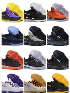 Top Quality James XVII EP 17 Low Sports Basketball Shoes For Mens Fashion Marble Black Purple Yellow White James 17s Sports Sneakers Lebrons
