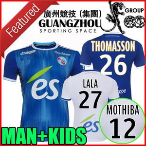 19 20 RC Strasbourg futbol Formalar 2019 2020 ev uzakta LALA THOMASSON DJIKU MOTHIBA MARTIN MAILLOT adam ve çocukları kiti formalarını