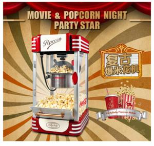 Yüksek kaliteli DIY Mini patlamış mısır machine310W220V Faydalı Vintage Retro Elektrikli Popcorn Popper Mach Retro 2020 Hanehalkı yeni sıcak satış 220W metal