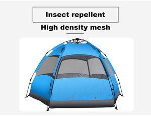 BY 3-4&5-8 people large quick installation family tent outdoor camping foldable tent inside and outside two-layer backpack tent shade