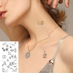 Водонепроницаемый Временные татуировки наклейки Whale цветок лодка Птица Kite линия волочения Поддельный Tatto флэш Татуировки для детей Мужчины Женщины