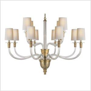 All copper American simple chandelier simple bedroom modern living room light   model room restaurant VC chandelie