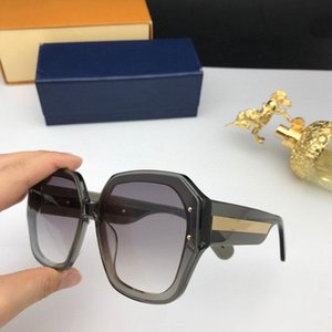 2020 nuevas mujeres de la moda gafas de sol de cristal brillante cuadrado marco grande caliente de la señora de la lente UV400 1085 marco con el caso