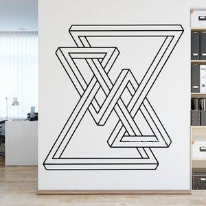 Muro padrão geométrico Art Wall Decor Sticker Criativo Escritório decoração adesivo Abstract Wallpapers Vinil Murais Newly