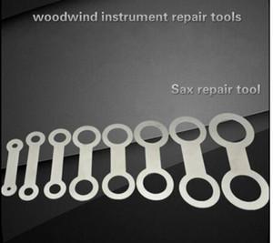 8 قطع آلات النفخ الساكسفون أداة إصلاح استبدال الوسادات الحديد