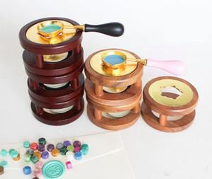 Stamp Vintage Wax Seal Perles cire chaud de fusion Colle four outil Pot de cuisson pour la cire Seal Stamp bougie