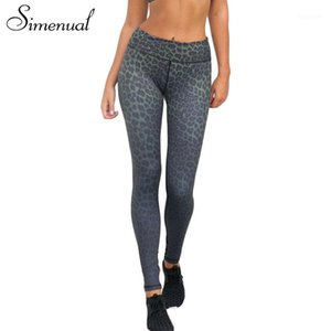 Simenual 3D leopard harajuku jeggings leggings push up bodybuilding slim fitness legging sportswear women clothing sexy pants1