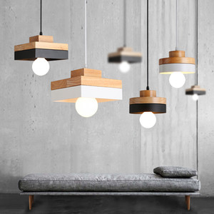 Nordic Led Pendant Lights Modern Wood Pendant Lamp E27 Industrial Hanglamp Dining Room Kithcen Island Bedroom Living Room Lights RW278