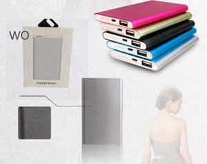Power Bank 5000mAh Batería externa Powerbank Tablet PC Cargador Teléfono celular Power Banks Con caja al por menor