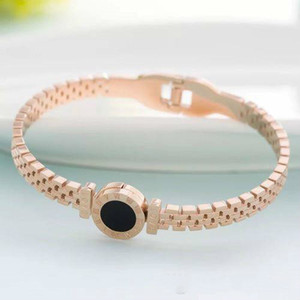 Wholesale-Rose Gold 316L Stainless Steel Screw Bangle Bracelet With Screwdriver And Stone Screws With Box Free Shipping