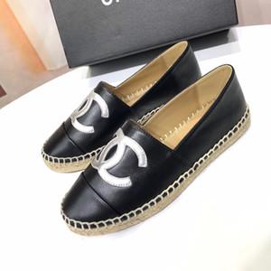 Venta de la tapa hecha a mano de las mujeres Bajo-Top Alpargatas Pescador de zapatos de cuero ocasionales de oveja zapatillas de suela de goma plana Ladys se deslizan en los zapatos de vestir-35-42