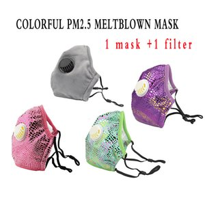 PM.25 Vana Yeni Melt gelişmiş Kumaş Rahat Nefes Anti-toz An-pus Yıkanabilir Maske Maske Nefes 1 PM2.5 Filtre İçeriyor