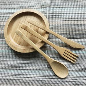 Bamboo Flatware Sets 20cm couteau fourchette cuillère extérieur Vaisselle Voyage Couverts en gros