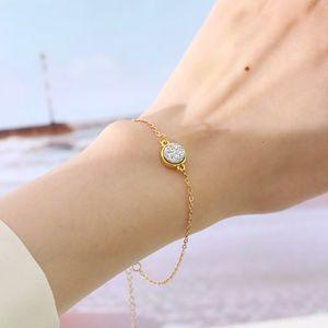 Heißer Verkaufs-Harz Druzy Kristall Rund Steinarmband-Armband Modedesigner Goldkette Freundschaft Braselets Schmuck für Frauen-Geschenk-Großhandel