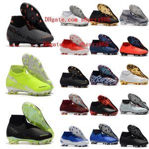 2018 hommes crampons de football Phantom VSN Elite DF FG extérieur chaussures de soccer x EA Sports Phantom Vision chaussures de football SCARPE calcio chaud