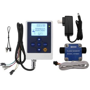 """Sensor de flujo de Diesel de engranajes secundario DIGITEN Flow Meter G1 / 2"""" 1/2 pulgadas Medidor de combustible Caudalímetro de gasolina con el regulador Meter LCD"""