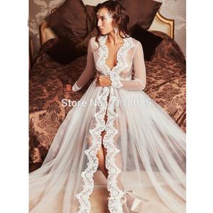 2019 여성 Tulle는 신부 Bolero를 통해 본다 Custom Made 레이스 Hem Wedding Party 케이프 복장 Bolero Mariage Bolero Jacket 결혼식 부속품