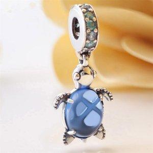 2020 Summer DIY Loose Bead 925 Sterling Silver Murano Glass Sea Turtle Dangle Fits European Pandora Jewelry Bracelets Necklaces & Pendant