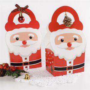 Noel Baba Bez Kağıt Kutu Noel Şeker Kek Saklama Kutusu Noeller Küçük Kek Saklama Kutusu