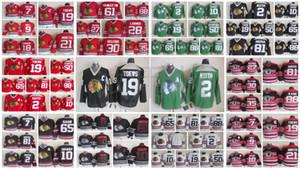 Chicago Blackhawks Jersey Marian Hossa 88 Patrick Kane Chris Chelios CCM Jonathan Toews Denis Savard Red Vintage Homens costurado Hockey Jerseys