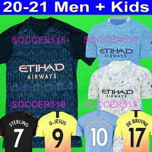 2020 magliette di calcio 2021 STERLING Kun Aguero Manchester OTAMENDI Forden G. JESUS Città De Bruyne Bernardo Silva pullover 19 20 di calcio dei capretti