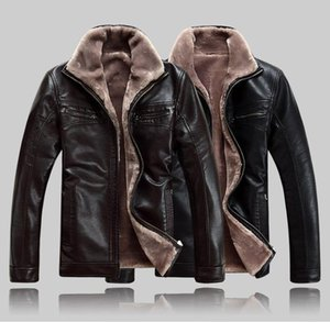 Men's leather jacket men winter warm wool jackets coats pu Men's leather jacket men winter warm wool jackets coats
